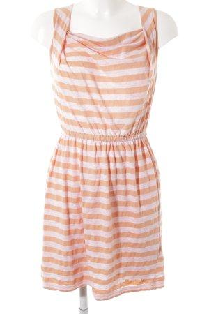 Bench Robe de plage orange clair-rose chair motif rayé