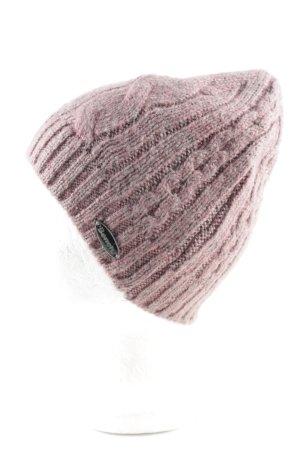 Bench Chapeau en tricot rose torsades style décontracté