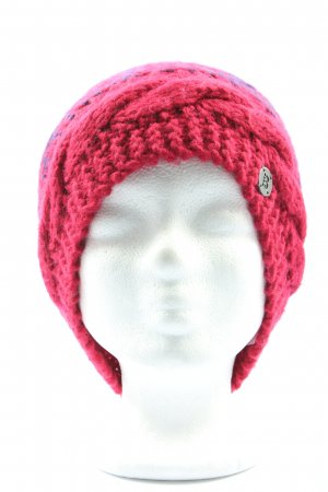 Bench Cappello a maglia rosa-giallo pallido punto treccia stile casual