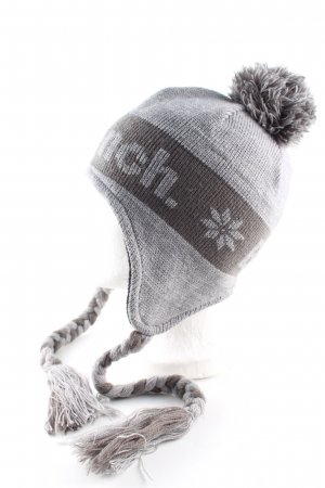 Bench Knitted Hat light grey printed lettering casual look