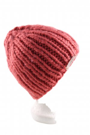 Bench Knitted Hat red cable stitch casual look