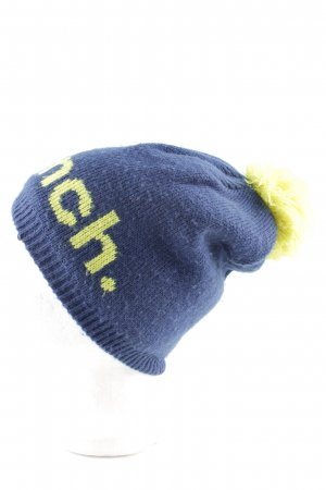 Bench Knitted Hat blue-primrose printed lettering casual look