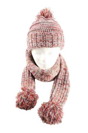 Bench Écharpe en tricot rose-blanc moucheté style décontracté