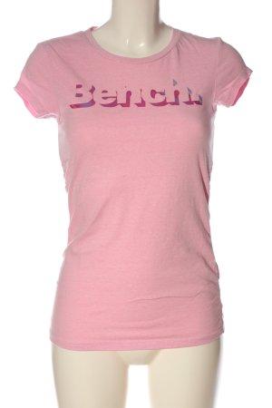 Bench Gebreid shirt roze gedrukte letters casual uitstraling