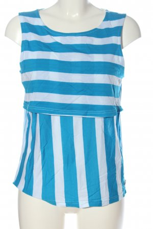 Bench Knitted Top blue-white striped pattern casual look