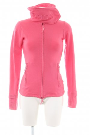 Bench Giacca fitness rosa caratteri ricamati stile casual