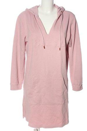 Bench Vestido de tela de sudadera rosa letras impresas look casual
