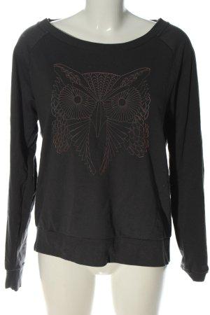 Bench Sweatshirt gris clair imprimé avec thème style décontracté