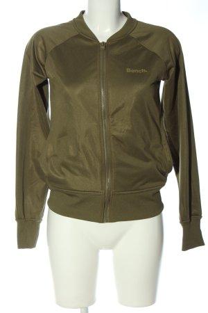 Bench Sweatshirt khaki Schriftzug gedruckt Casual-Look