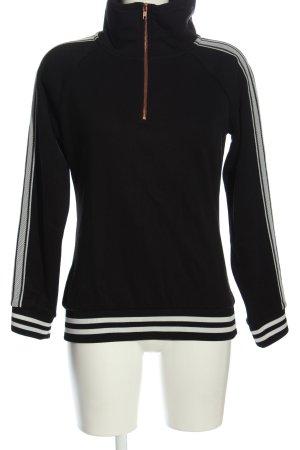 Bench Sweatshirt schwarz-weiß Casual-Look