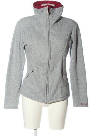 Bench Suéter gris claro moteado look casual