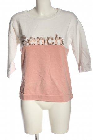 Bench Sweatshirt pink-weiß Schriftzug gedruckt Casual-Look