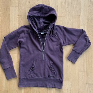 Bench Hooded Sweatshirt grey lilac-lilac cotton