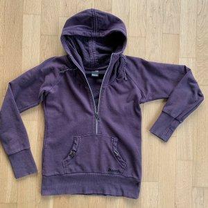 Bench Sweat à capuche gris lilas-violet coton