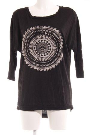 Bench Sweatshirt schwarz Motivdruck Casual-Look