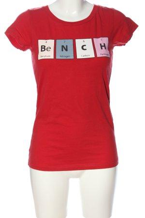 Bench T-Shirt rot Motivdruck Casual-Look