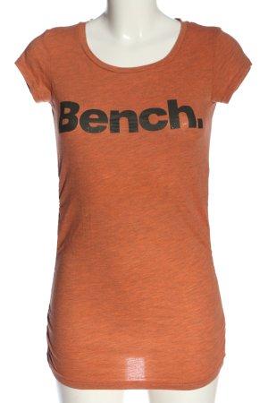 Bench T-Shirt hellorange-schwarz meliert Casual-Look
