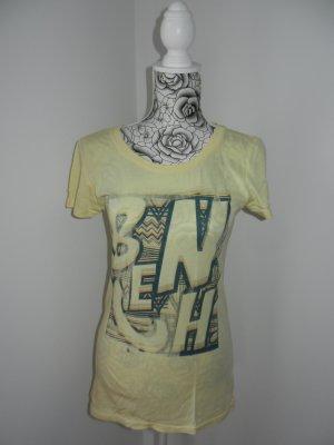 Bench T-shirt jaune clair-jaune primevère