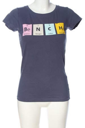 Bench T-Shirt blau Motivdruck Casual-Look