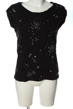 Bench T-Shirt schwarz-weiß Allover-Druck Casual-Look