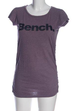 Bench T-shirt violet-noir moucheté style décontracté
