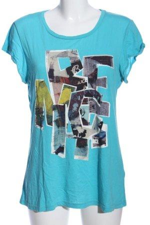 Bench T-Shirt blau-hellgrau Motivdruck Casual-Look