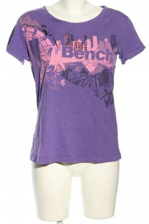 Bench T-Shirt lila-pink Motivdruck Casual-Look
