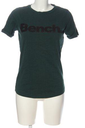 Bench T-Shirt grün-schwarz Motivdruck Casual-Look