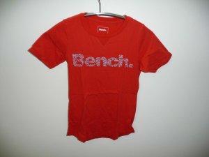 Bench - T-shirt - Gr. XS - rot/orange
