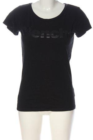 Bench T-Shirt schwarz Schriftzug gedruckt Casual-Look