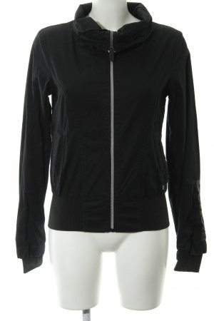 Bench Übergangsjacke schwarz-silberfarben Casual-Look
