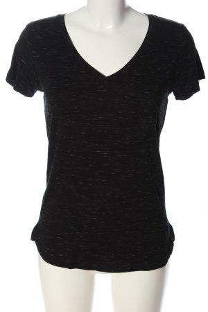 Bench V-Ausschnitt-Shirt schwarz meliert Casual-Look