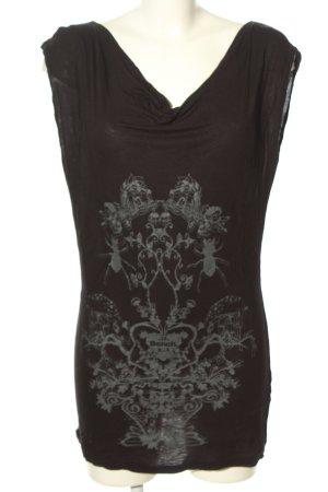 Bench Waterval shirt zwart-lichtgrijs prints met een thema casual uitstraling