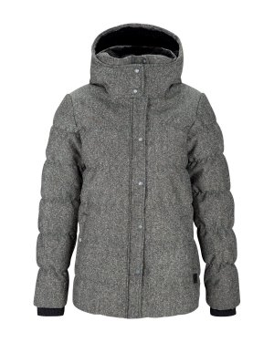 BENCH Winter Jacke Mantel Skijacke Steppjacke + Kapuze grey – XS