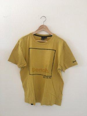 Benchmark Streetwear Hip Hop Boyfriend Top Oberteil Shirt Halbarm T-Shirt gelb schwarz l large weit lässig unisex oversize