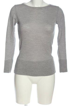 Benedetta B. Fine Knit Jumper light grey flecked casual look