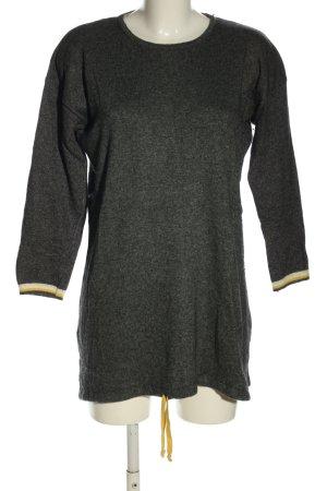 Benedetta B. Long Sweater light grey flecked casual look