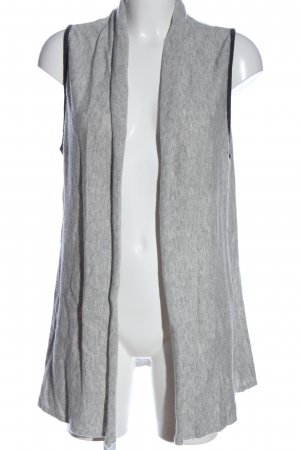 Benedetta B. Long Knitted Vest light grey flecked casual look