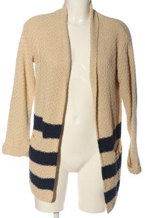 Benedetta B. Knitted Cardigan cream-black striped pattern casual look