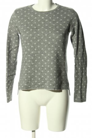 Benedetta B. Wool Sweater light grey-natural white allover print casual look