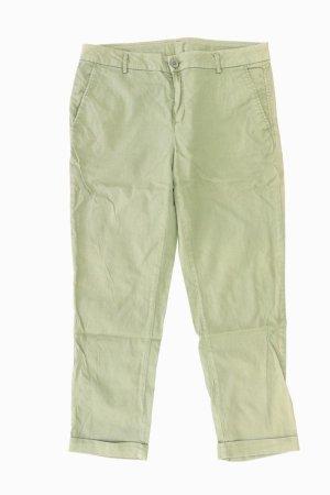 Benetton Pantalon 7/8 vert olive coton