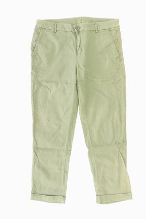 Benetton 7/8 Length Trousers olive green cotton