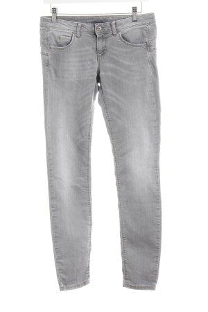 Benetton Jeans a 7/8 grigio chiaro look pulito