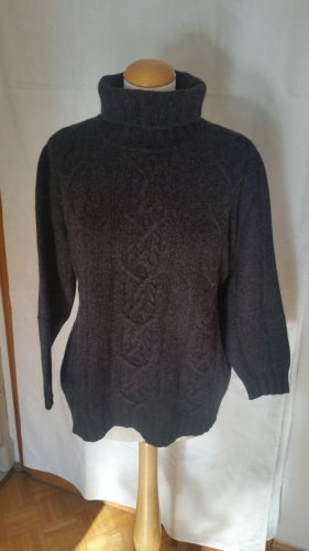 Benetton anthrazit Pullover Wolle Gr. 40/42 Gr. L