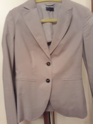 Benetton Jeans Unisex Blazer silver-colored cotton