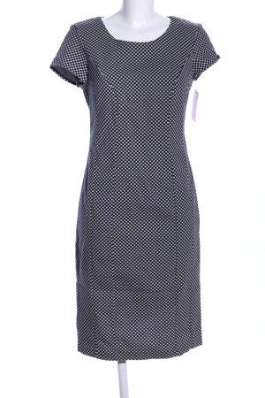 Benetton Bleistiftkleid weiß-schwarz Punktemuster Business-Look
