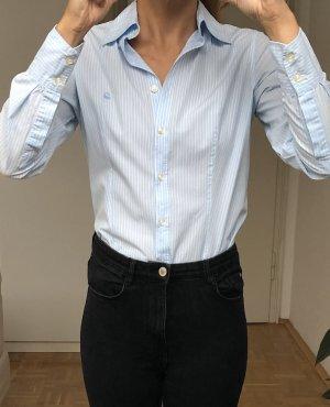 United Colors of Benetton Bluzka z długim rękawem biały-błękitny