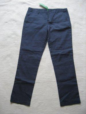 benetton chinohose neu gr. s 36 dunkelblau