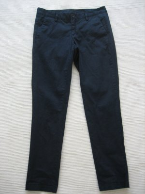benetton chinos hose buero neuwertig gr. xs 34 *italien 38  dunkelblau