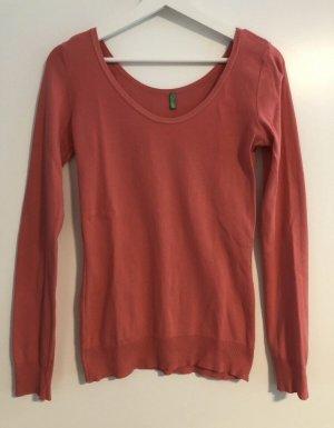 BENETTON | dünner zeitloser Pullover | Größe M | koralle